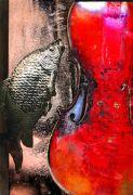 Still Life art,Surrealism art,printmaking,Fish & Vinni 1