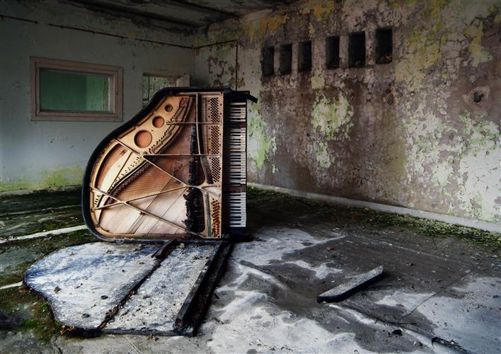 Original art for sale at UGallery.com | Dead Piano by BEAT HAUSER | $125 |  | ' h x ' w | http://www.ugallery.com/photography-dead-piano