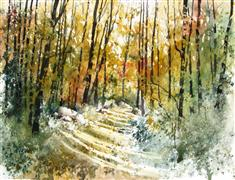 Original art for sale at UGallery.com | Black Canyon Trail by Charles Ash | $350 | watercolor painting | http://www.ugallery.com/watercolor-painting-black-canyon-trail