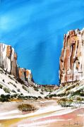 Original art for sale at UGallery.com | Diablo Canyon Near Santa Fe by Charles Ash | $375 | watercolor painting | http://www.ugallery.com/watercolor-painting-diablo-canyon-near-santa-fe