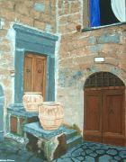 Original art for sale at UGallery.com |  Civita di Bagnoregio by Patricia Freeman | $475 | acrylic painting | http://www.ugallery.com/acrylic-painting-civita-di-bagnoregio