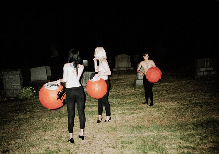Original art for sale at UGallery.com | Pumpkin Heads (Grave Yard Girls) by DANA LAUREN GOLDSTEIN | $325 |  | ' h x ' w | http://www.ugallery.com/photography-pumpkin-heads-grave-yard-girls
