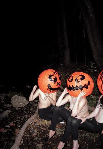 Discover Original Art by Dana Lauren Goldstein | Pumpkin Heads (Spider Legs) photography | Art for Sale Online at UGallery