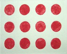 Original art for sale at UGallery.com | Untitled (Twelve Red Circles) by Robert Darabos | $110 | printmaking | http://www.ugallery.com/printmaking-untitled-twelve-red-circles