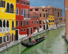 Original art for sale at UGallery.com | Canal In Venice by Patricia Freeman | $400 | acrylic painting | http://www.ugallery.com/acrylic-painting-canal-in-venice