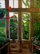 Original art for sale at UGallery.com | Garden Door by Patricia Freeman | $450 | acrylic painting | http://www.ugallery.com/acrylic-painting-garden-door