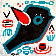 Original art for sale at UGallery.com | Red-Winged Blackbird by Jessica JH Roller | $210 | acrylic painting | http://www.ugallery.com/acrylic-painting-red-winged-blackbird