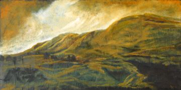 Original art for sale at UGallery.com | Golden Hills IV by Mandy Main | $2,025 | oil painting | http://www.ugallery.com/oil-painting-golden-hills-iv