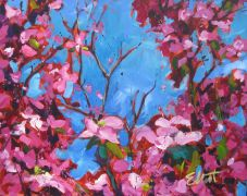 Discover Original Art by Elliot Coatney | Dogwood acrylic painting | Art for Sale Online at UGallery