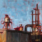 Discover Original Art by Elliot Coatney | Factory Top acrylic painting | Art for Sale Online at UGallery