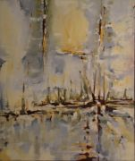 Original art for sale at UGallery.com | January Dawn by Cynthia Ligeros | $950 | oil painting | http://www.ugallery.com/oil-painting-january-dawn