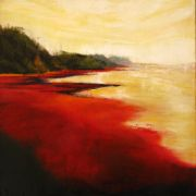 Original art for sale at UGallery.com | Red Sands II by Mandy Main | $475 | oil painting | http://www.ugallery.com/oil-painting-red-sands-ii