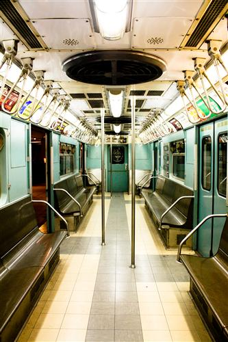 Original art for sale at UGallery.com | New York City Subway in Mint Green by REBECCA PLOTNICK | $195 |  | ' h x ' w | http://www.ugallery.com/photography-new-york-city-subway-in-mint-green