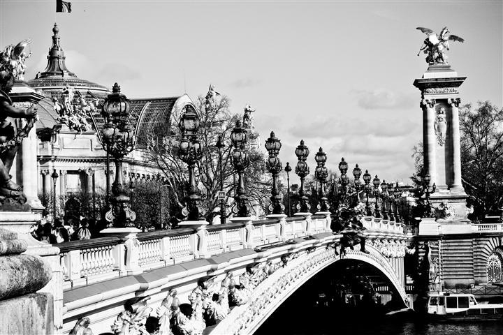 Original art for sale at UGallery.com | Across the Seine - Paris, France by REBECCA PLOTNICK | $195 |  | ' h x ' w | http://www.ugallery.com/photography-across-the-seine-paris-france