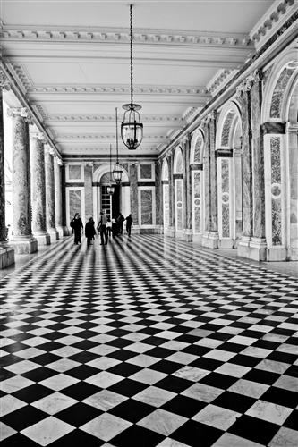 Discover Original Art by Rebecca Plotnick | Walking in Black and White - Versailles, France photography | Art for Sale Online at UGallery