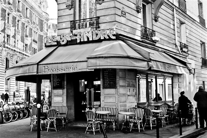 Original art for sale at UGallery.com | Parisian Brasserie by REBECCA PLOTNICK | $195 |  | ' h x ' w | http://www.ugallery.com/photography-parisian-brasserie