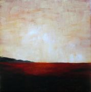 Original art for sale at UGallery.com | Red Field by Mandy Main | $475 | oil painting | http://www.ugallery.com/oil-painting-red-field