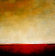 Original art for sale at UGallery.com | Red Field II by Mandy Main | $400 | oil painting | http://www.ugallery.com/oil-painting-red-field-ii