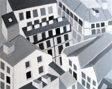 Original art for sale at UGallery.com | French Buildings by Toni Silber-Delerive | $1,000 | acrylic painting | http://www.ugallery.com/acrylic-painting-french-buildings