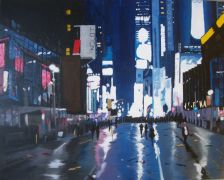 Original art for sale at UGallery.com | New Year's Eve, The After Party (Special Commission) by Patricia Freeman | $750 | acrylic painting | http://www.ugallery.com/acrylic-painting-new-year-s-eve-the-after-party-special-commission