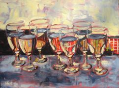 Discover Original Art by Elliot Coatney | Glasses II acrylic painting | Art for Sale Online at UGallery