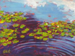 Discover Original Art by Elliot Coatney | Lily Pads acrylic painting | Art for Sale Online at UGallery