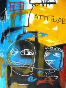 Original art for sale at UGallery.com | Attitude by Alan Taylor Jeffries | $375 | mixed media artwork | http://www.ugallery.com/mixed-media-artwork-attitude