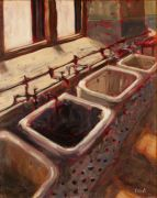 Discover Original Art by Elliot Coatney | Biltmore Laundry acrylic painting | Art for Sale Online at UGallery