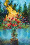 Discover Original Art by Iris Scott | Combustible Botanical oil painting | Art for Sale Online at UGallery