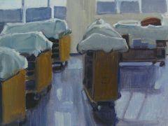 Original art for sale at UGallery.com | The Little Cadaver Lab by Sara Sisun | $650 | oil painting | http://www.ugallery.com/oil-painting-the-little-cadaver-lab