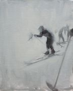 Original art for sale at UGallery.com | Little Skier by Sara Sisun | $125 | oil painting | http://www.ugallery.com/oil-painting-little-skier