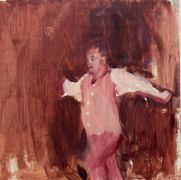 Original art for sale at UGallery.com | Drunk Dancing Man by Sara Sisun | $300 | oil painting | http://www.ugallery.com/oil-painting-drunk-dancing-man