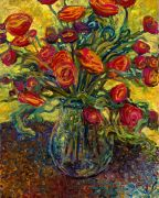 Discover Original Art by Iris Scott | Fifty-Five Roses oil painting | Art for Sale Online at UGallery