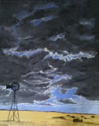 Original art for sale at UGallery.com | Not Every Cloud Genders A Storm, Ask Texas by Patricia Freeman | $550 | acrylic painting | http://www.ugallery.com/acrylic-painting-not-every-cloud-genders-a-storm-ask-texas