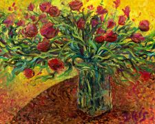 Discover Original Art by Iris Scott | Roses oil painting | Art for Sale Online at UGallery