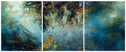 Discover Original Art by Iris Scott | Pisces oil painting | Art for Sale Online at UGallery