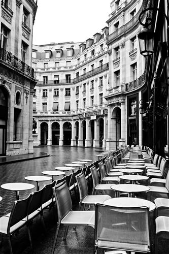 Original art for sale at UGallery.com | Paris Cafe in The Rain by REBECCA PLOTNICK | $195 |  | ' h x ' w | http://www.ugallery.com/photography-paris-cafe-in-the-rain-21174