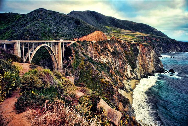 Original art for sale at UGallery.com | Bixby Bridge in the Haze of Summer by NOELLE VISCONTI | $135 |  | ' h x ' w | http://www.ugallery.com/photography-bixby-bridge-in-the-haze-of-summer