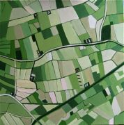 Original art for sale at UGallery.com | Farmland by Toni Silber-Delerive | $1,300 | acrylic painting | http://www.ugallery.com/acrylic-painting-farmland
