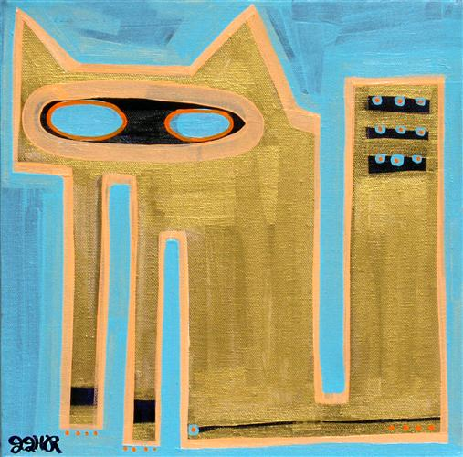 Original art for sale at UGallery.com | Siamese Sugarcube #2 by JESSICA JH ROLLER | $210 | Acrylic painting | 12' h x 12' w | http://www.ugallery.com/acrylic-painting-siamese-sugarcube-2
