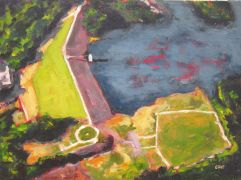 Discover Original Art by Elliot Coatney | Aerial Landscape I acrylic painting | Art for Sale Online at UGallery