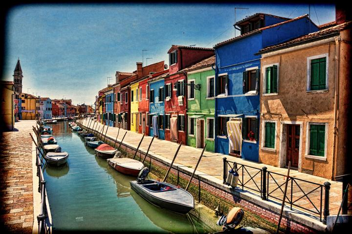 Original art for sale at UGallery.com | Burano Island in Venetian Lagoon by NOELLE VISCONTI | $115 |  | ' h x ' w | http://www.ugallery.com/photography-burano-island-in-venetian-lagoon