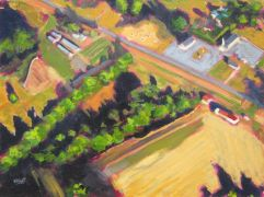 Discover Original Art by Elliot Coatney | Aerial Landscape III acrylic painting | Art for Sale Online at UGallery