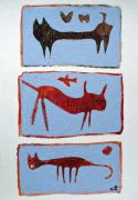 Original art for sale at UGallery.com | Tres Beasties by Scott Bergey | $250 | acrylic painting | http://www.ugallery.com/acrylic-painting-tres-beasties