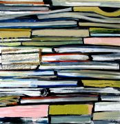 Discover Original Art by Kim Kitz | Books oil painting | Art for Sale Online at UGallery