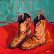 Discover Original Art by Elliot Coatney | Boots acrylic painting | Art for Sale Online at UGallery