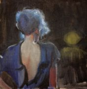 Original art for sale at UGallery.com | Blue Hair by Sara Sisun | $650 | oil painting | http://www.ugallery.com/oil-painting-blue-hair