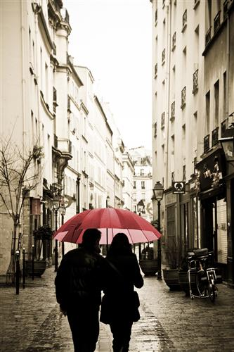 Original art for sale at UGallery.com | Red Umbrella in Paris by REBECCA PLOTNICK | $195 |  | ' h x ' w | http://www.ugallery.com/photography-red-umbrella-in-paris