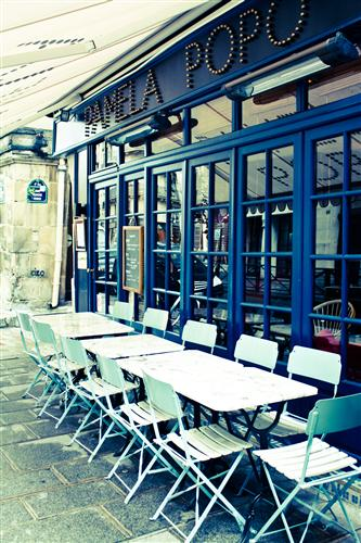 Original art for sale at UGallery.com | Popo Cafe in Paris by REBECCA PLOTNICK | $195 |  | ' h x ' w | http://www.ugallery.com/photography-popo-cafe-in-paris
