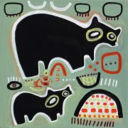 Original art for sale at UGallery.com | Two Black Bears by Jessica JH Roller | $250 | acrylic painting | http://www.ugallery.com/acrylic-painting-two-black-bears